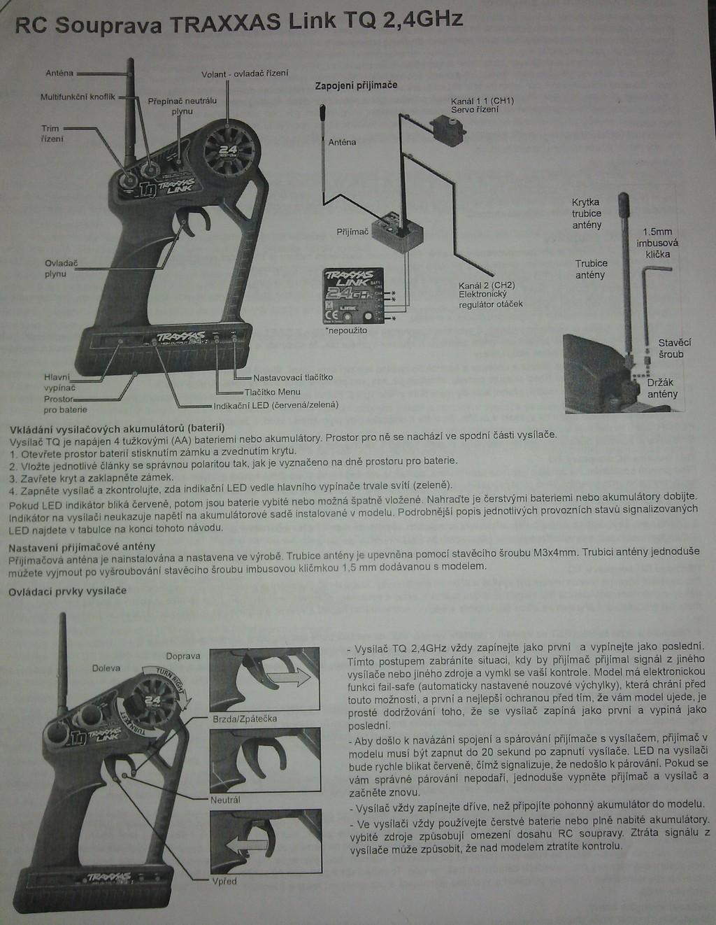 traxxas tq 24 ghz manual